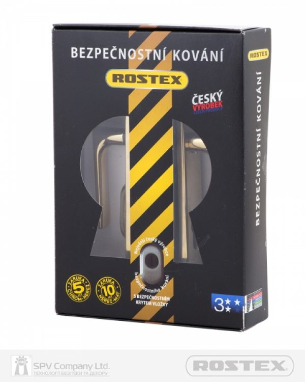 Фото 3 - Фурнитура защитная ROSTEX R1/R4 R mov-mov DIN PLATE 90мм Титан PVD 22мм 38-55мм 3клас 804 TI Комплект.