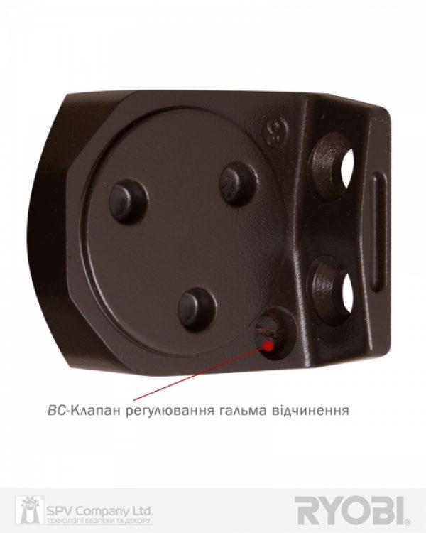Фото 7 - Доводчик накладной RYOBI 2000 D-2005V DARK BRONZE BC STD ARM EN 3/4/5 до 100кг 1250мм FIRE.