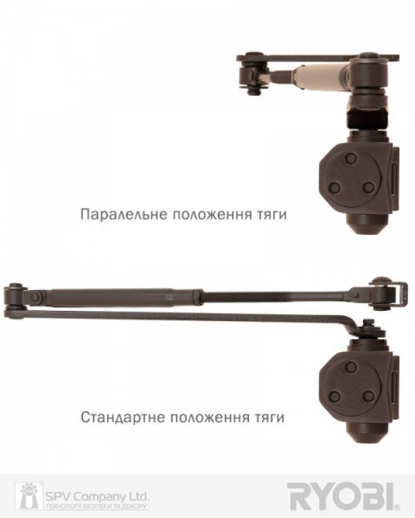 Фото 3 - Доводчик накладной RYOBI 2000 D-2005V DARK BRONZE BC UNIV ARM EN 3/4/5 до 100кг 1250мм FIRE.