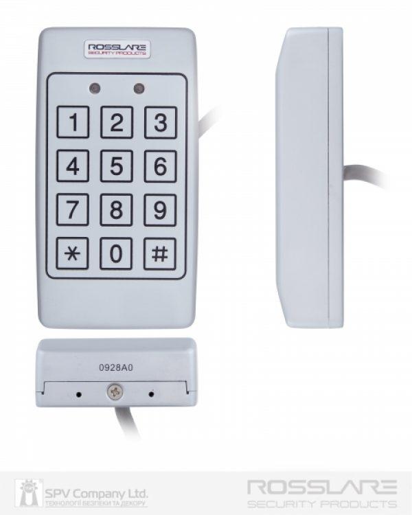 Фото 2 - Электронный контроллер ROSSLARE AC-T43 автономный антивандальный внешний код с пьезо кнопками.