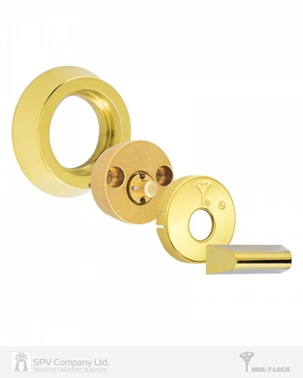Фото 6 - Замок врезной MUL-T-LOCK 1-WAY DEAD BOLT HERCULAR SHINY BRASS UNIV BS60/70мм *MT5+ 3KEY DND2C B/S 948B metal door SP.