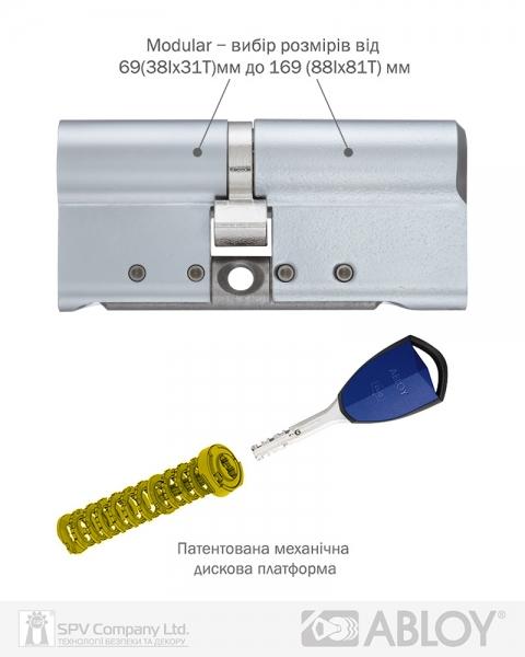 Фото 10 - Цилиндр ABLOY DIN_MOD_KK HARD CY332 *PROTEC2 104 HCR 53Hix51 CAM30 CLIQ M/S TA77ZZ BOX.