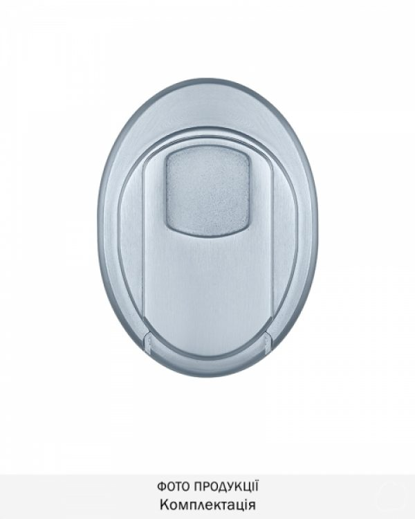 Фото 2 - Протектор DISEC MAGNETIC 4G MG3551DM LEVER KEY OVAL 15мм Хром мат T 3KEY KM0P55 Внешний.