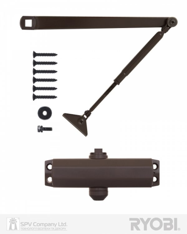 Фото 7 - Доводчик накладной RYOBI *9900 9903 DARK BRONZE STD ARM EN 2/3 до 65кг 965мм.