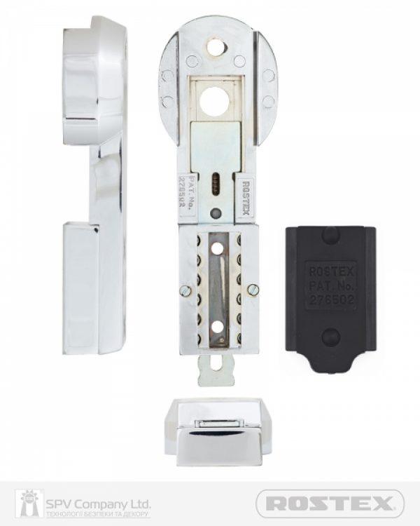 Фото 3 - Фурнитура защитная ROSTEX 807 CODE1 DIN PLATE 90мм Хром полірований 3клас CR Внешний.