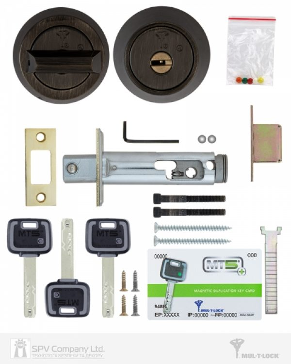 Фото 2 - Замок врезной MUL-T-LOCK 1-WAY DEAD BOLT HERCULAR ANTIQUE BRONZE UNIV BS60/70мм *MT5+ 3KEY DND2C B/S 948B wood door SP.