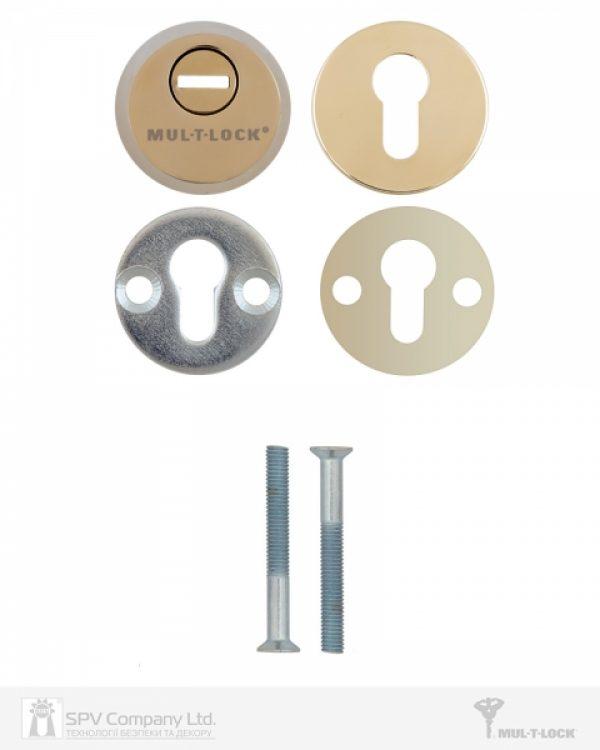Фото 2 - Протектор MUL-T-LOCK SL3 DIN ROUND 14,5 мм 48-53мм Латунь полірована 3клас SHINY BRASS Комплект, М8х65.