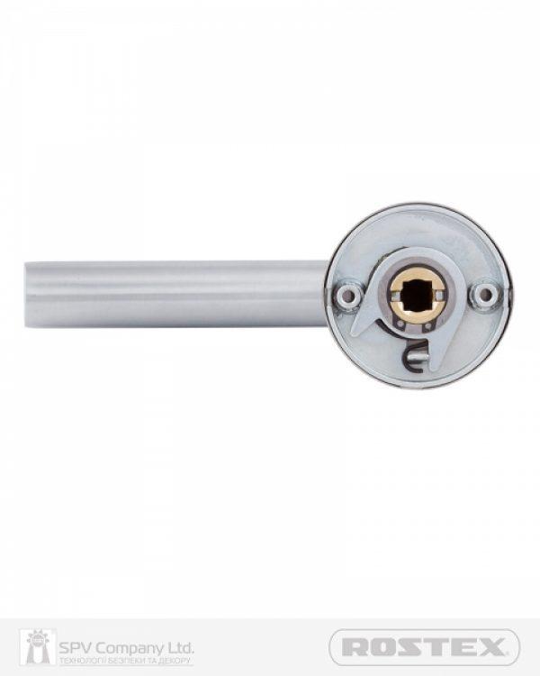 Фото 3 - Ручка дверная ROSTEX CORTINA ES53 mov-mov ROUND Нерж.сталь мат 38-52мм насквозь Cortina NEREZ MAT Комплект.