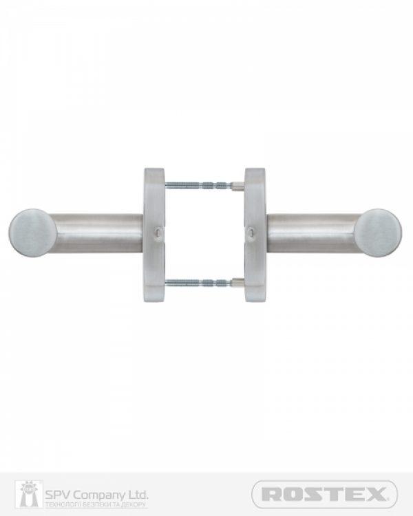 Фото 4 - Ручка дверная ROSTEX VIGO ES32 mov-mov OVAL Нерж.сталь мат 38-45мм накладные Vigo NEREZ MAT Комплект.