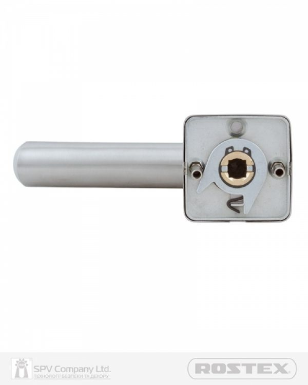 Фото 8 - Ручка дверная ROSTEX TRENTO H50 mov-mov SQUARE Нерж.сталь мат 38-52мм универсальное Trento NEREZ MAT Комплект.