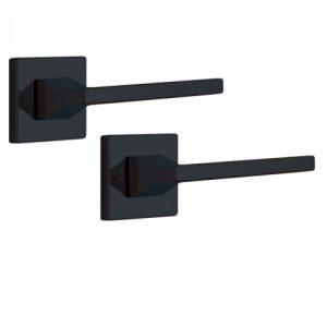 Фото 12 - Ручка дверная ROSTEX KIRA H56 mov-mov SQUARE Фарба чорна 38-45мм универсальное Kira BLACK MAT Комплект.