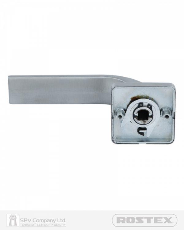 Фото 4 - Ручка дверная ROSTEX FORTI H53 mov-mov SQUARE Нерж.сталь мат 38-52мм насквозь Forti NEREZ MAT Комплект.
