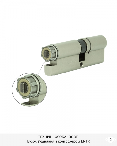 Фото 4 - Цилиндр MUL-T-LOCK DIN_KT *INTERACTIVE+ 66 NST 35Zx31 CAM30 ENTR 2KEY DND3D_BLUE_INS 264G+ BOX.