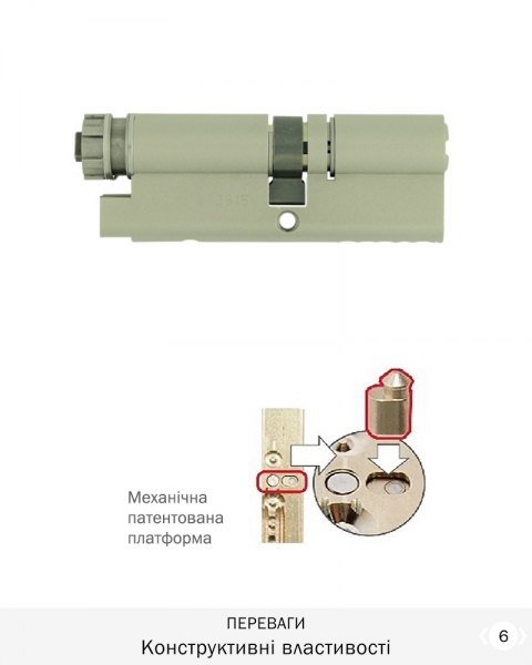 Фото 8 - Цилиндр MUL-T-LOCK DIN_KT *INTERACTIVE+ 66 NST 35Zx31 CAM30 ENTR 2KEY DND3D_BLUE_INS 264G+ BOX.