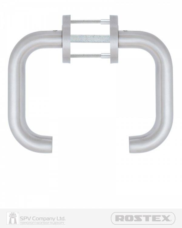 Фото 3 - Ручка дверная ROSTEX ALBACETE ES52 mov-mov ROUND Нерж.сталь мат 38-52мм универсальное Albacete NEREZ MAT Комплект.