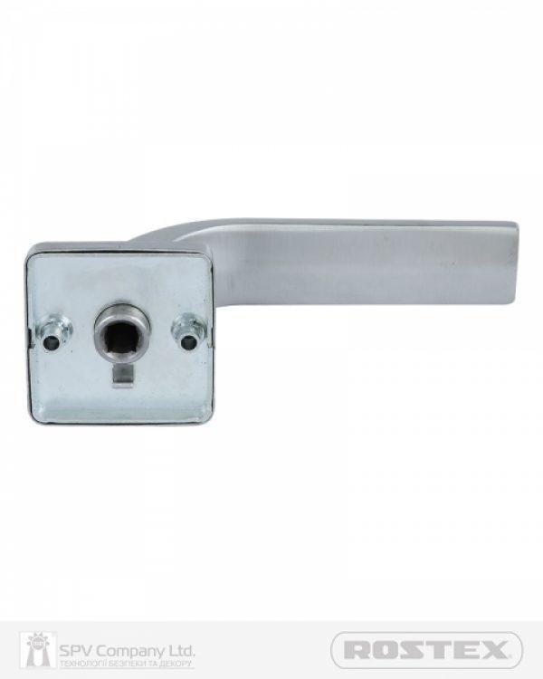 Фото 3 - Ручка дверная ROSTEX FORTI H53 mov-mov SQUARE Нерж.сталь мат 38-52мм насквозь Forti NEREZ MAT Комплект.
