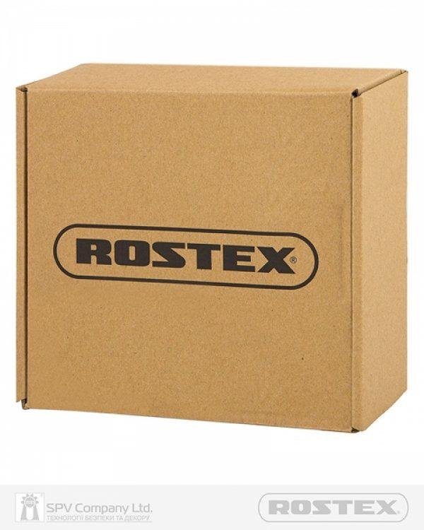 Фото 5 - Ручка дверная ROSTEX BOLZANO ES53 mov-mov ROUND Нерж.сталь мат 38-52мм насквозь NEREZ MAT Комплект.