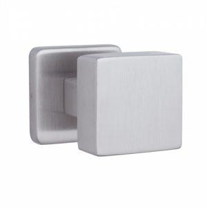 Фото 13 - Ручка дверная ROSTEX DESIGN H53 fix SQUARE Нерж.сталь мат насквозь Design NEREZ MAT Половинка, шток 65мм.