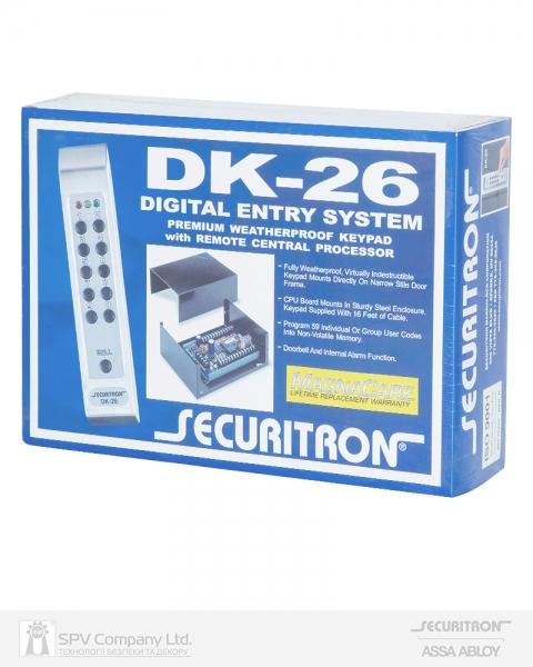 Фото 6 - Электронный контроллер SECURITRON DK-26 автономный антивандальный внешний код черный.